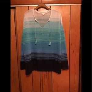 J.Jill 100% linen knitted top